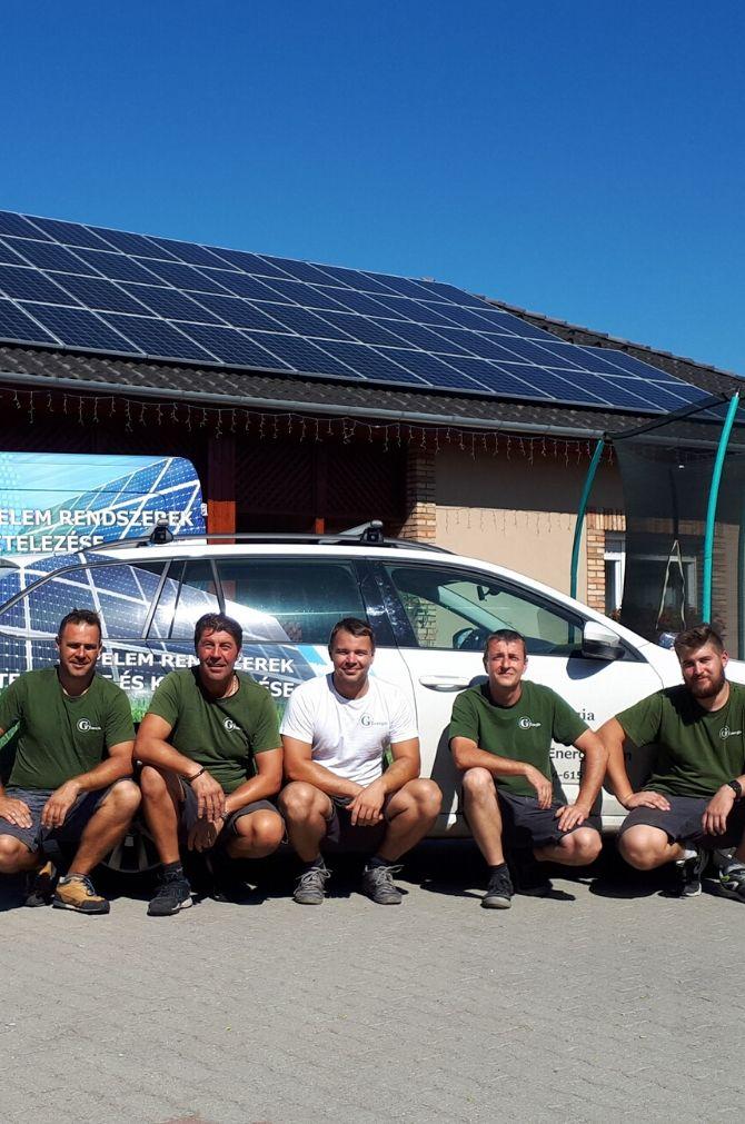 Gershoj Energia Kft. napelem telepítő csapata
