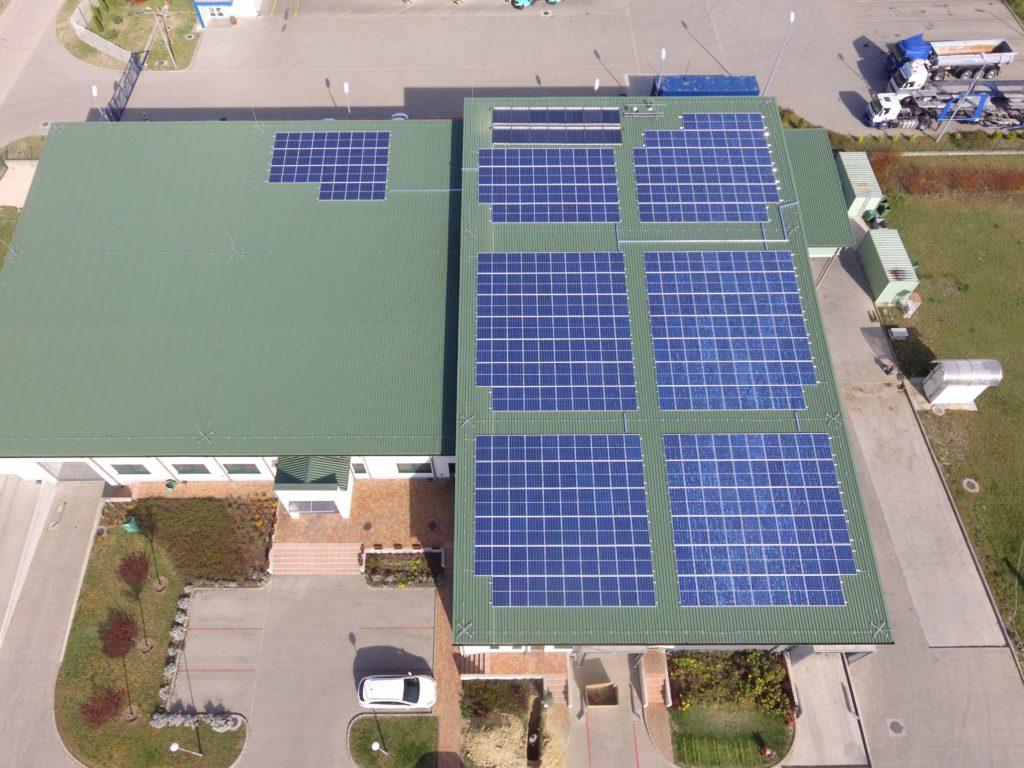 vállalat napelem rendszer