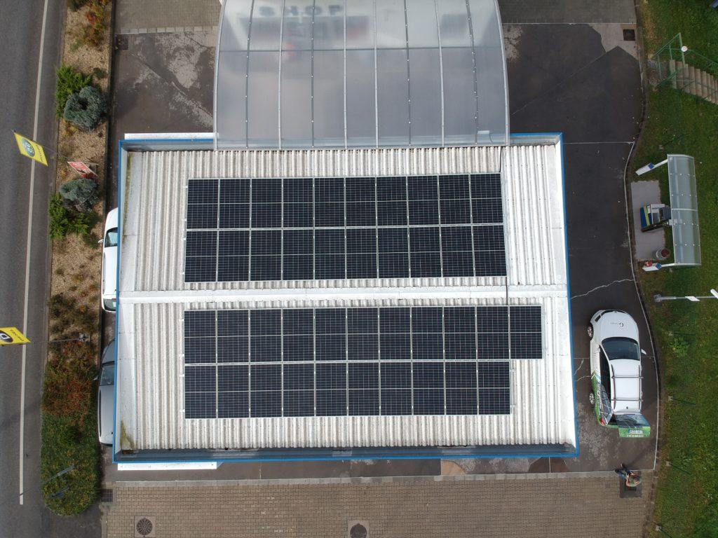 vállalati napelem rendszer