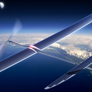 This undated image released by Titan Aerospace shows the company's Solara 50 aircraft.  Facebook is in talks to buy Titan Aerospace, a maker of solar-powered drones, to step up its efforts to provide Internet access to remote parts of the world, according to reports released Tuesday, March 4, 2014. (AP Photo/Titan Aerospace)